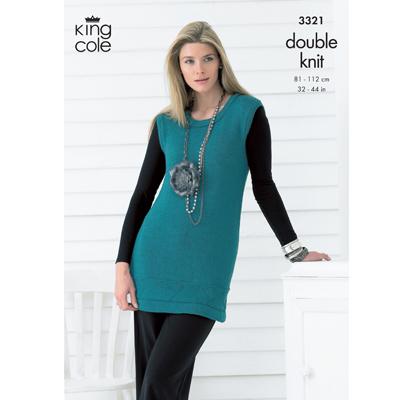 "King Cole Knitting Pattern 3069~Bolero Cardigans~DK~32-44/"""