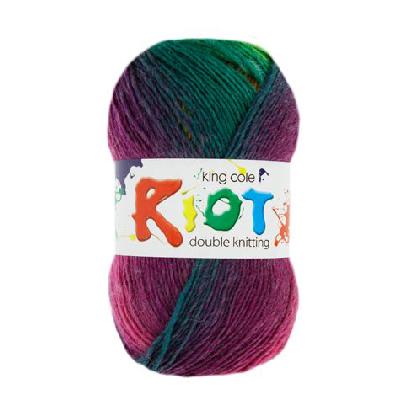 per 100g ball King Cole Riot DK Knitting Wool//Yarn Wicked 402